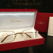 Cartier Gold Eyeglasses/sunglasses Photo
