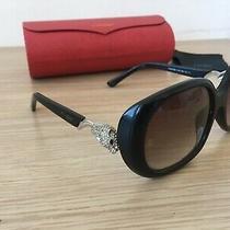 Cartier Gold Leopard Sunglasses Vintage Case Jaguar Full Rim Buffalo Photo