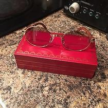 Cartier Gold & Wood Buffalo Glasses  Photo