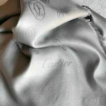 Cartier Gray Square Wool/silk Scarf Italy Photo