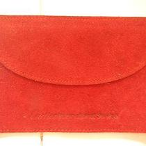 Cartier International Service Red Suede Jewelry Pouch Photo