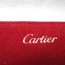 Cartier International Service Red Suede Leather Jewelry Pouch Photo