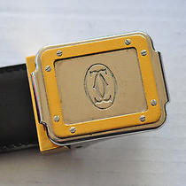 Cartier Leather Belt Awesome Buckle With Santos Watch Motif Small Men's/women's Photo