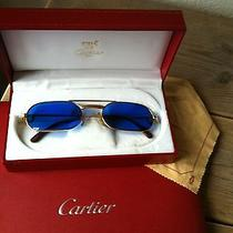 Cartier Louis Sunglasses  Blue  Photo