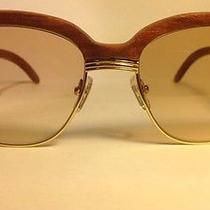 Cartier Malmaison Sunglasses Vintage Wood Photo