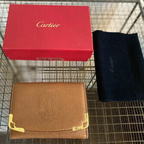 Cartier Marcello Card Case Leather Auth. Great Condition Pre-Owned L3000813 Photo