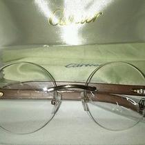 Cartier Men's Woodgrain Glasses Photo