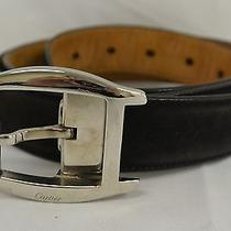 Cartier Mens Belt Buckle on Ferragamo Brown Suede Belt 41