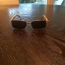 Cartier Mens Sunglasses Wood and Gold  Photo