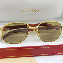 Cartier Monceau Bubinga Wood France Malmaison Vintage Glasses Sunglasses Rare Photo