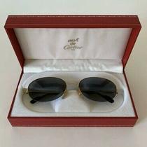 Cartier Must De Sunglasses Vintage Sapphire & Gold Photo