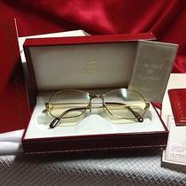 Cartier Panther Eyeglasses Vintage in Gift Box With Leather Case and Cloth Photo