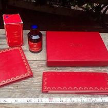 Cartier Paris Red Leather Vintage Notepad Address Book Ink Box Jewelry Watch Lot Photo
