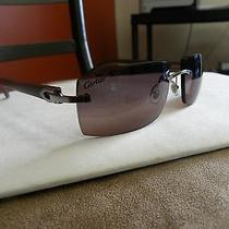 Cartier Platinum Wood Raphaela Sunglasses Photo