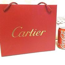 Cartier Pre-Owned Golden Jewelry Carry Bag Shopping Medium 9