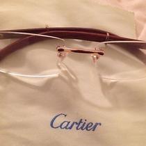 Cartier Rimless Wood Frame Eyeglasses Photo