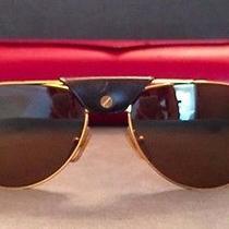 Cartier Santos Dumont Sunglasses 130 58/16 - Gold Frame - Authentic Photo