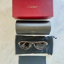 Cartier Santos Sunglasses - Ct 0034s Col. 011 Gold Havana/brown Gradient New Photo