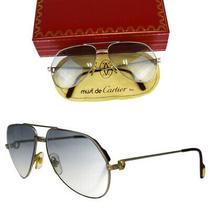 Cartier Santos Vendome Sunglasses Silver Blue With Case Photo