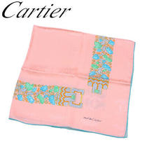 Cartier Scarf Large Format Size Pink Green Blue System Jewelry Prints Used Photo