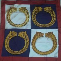 Cartier Silk  Square Scarf - Bracelet Panthere Panther  Photo
