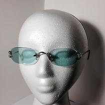 Cartier Silver Framed Eye Wear W/ Bluish Green Lenses Style 135 2694519 Photo