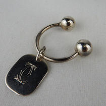 Cartier Sterling Silver Key Chain / Loop  Unisex  Intertwined
