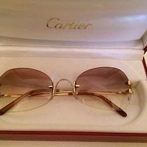 Cartier Sunglasses 18k Solid Gold Photo