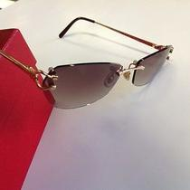 Cartier Sunglasses 18k Solid Rose Gold 100% Authentic Brand New Classic Photo