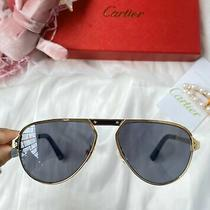Cartier Sunglasses Ct0101s C.001wh Gold Frame Gray Lens Photo