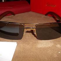 Cartier Sunglasses Eyeglasses Gold & Bubinga Wood 54-18-140  Photo