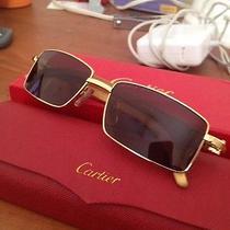 Cartier Sunglasses With Bubinga Wood Photo
