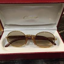 Cartier Sunglasses Wood and Gold Photo