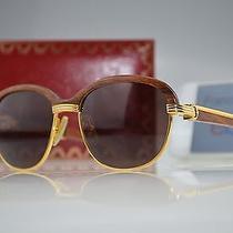 Cartier Sunglasses Wood Malmaison Photo