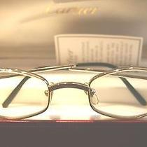 Cartier T8100361 Platinum Eyeglasses - Rare Photo
