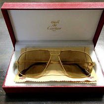 Cartier Vinatge Original Gold Sunglasses Made in France Photo