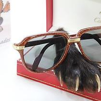 Cartier Vitesse Vintage Sunglasses Occhiali Marble Brown Lunette 58-15 (Rare) Photo