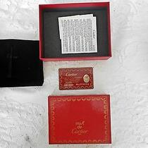 Cartier Wallet W/papers and Box  Photo