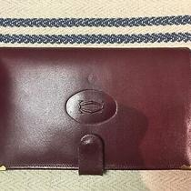 Cartier Wallet Women Red Leather Vintage Checkbook Photo