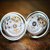Cartier Watch Movement Cufflinks Steampunk Vintage Wedding Groom Gift Present Photo