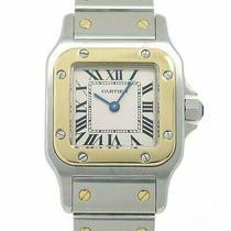 Cartier Watch Santos Galbe Quartz 18k Gold st.steel Women Used Photo