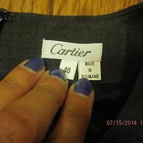 Cartier Womens Gray Wool Blend Dress Size 40 (Rare) Photo