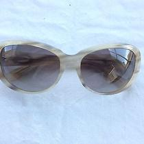 Cartier Womens' Off White and Gray Sunglasses Photo