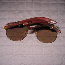 Cartier Wood /gold   Sunglasses   Photo