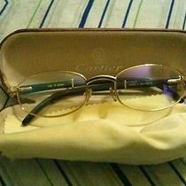 Cartier  Wood Octagon Gold Sunglasses  - Authentic Photo