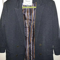 Cartonnier Anthropologie Medium Gray 3/4 Sleeve Double Breasted Blazer Jacket M Photo