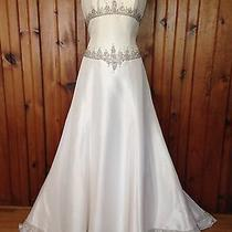 Casablanca  1890 Taffeta Wedding Dress Size 12 Blush Photo