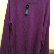 Cashmere Purple Pullover Sweater Large Purple Photo