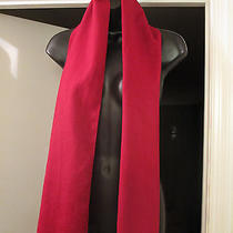 Cashmere Red Solid Coach Scarf  Photo