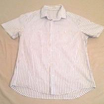 Castro Men h&m Renuar Formal Buttons Mens Shirt Size Sz Xl  Short Sleeve Photo